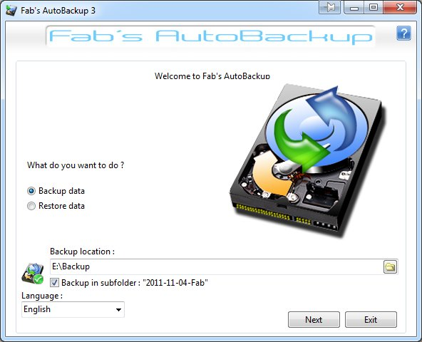 Fabs AutoBackup full screenshot
